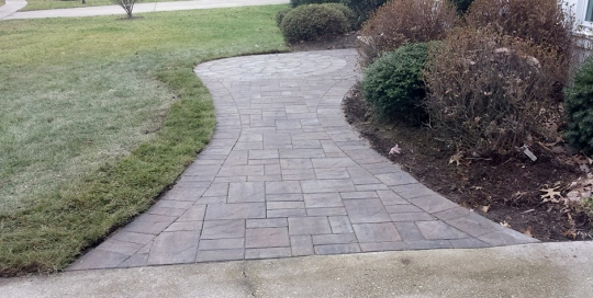 paver hardscape after