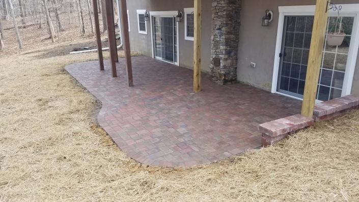 Paver patio backyard