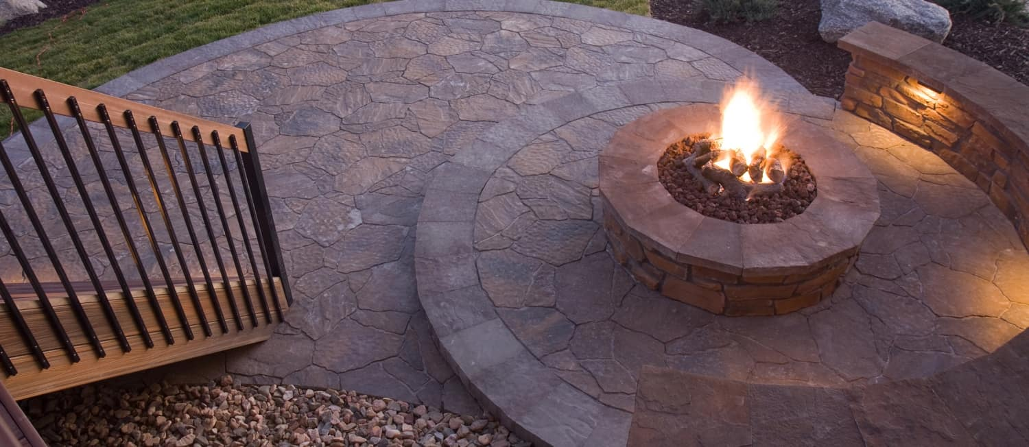 Fire Pit and Stone Pavers in Annapolis
